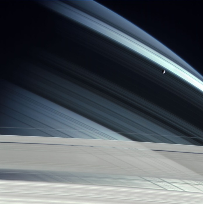 Mimas over Saturn_Michael Benson
