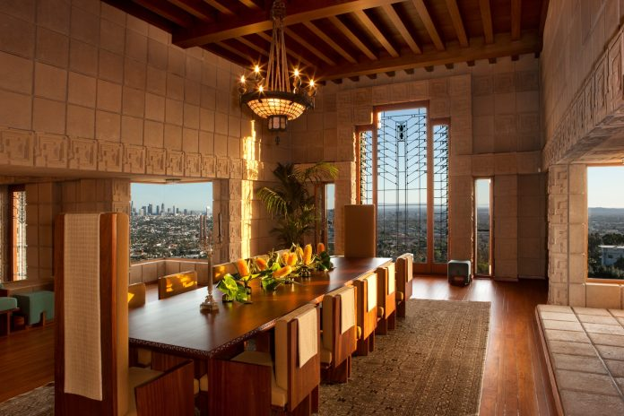 Ennis House built by Frank Lloyd Wright